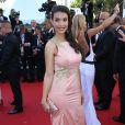 """Ludivine Sagna - Montée des marches du film """"Youth"""" lors du 68e Festival de Cannes, le 20 mai 2015."""
