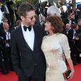 """Emma de Caunes et son mari Jamie Hewlett, Géraldine Nakache, Petra Nemcova, Ludivine Sagna, Joan Smalls, Anja Rubik et Rossy de Palma - Montée des marches du film """"Youth"""" lors du 68e Festival de Cannes, le 20 mai 2015."""