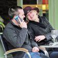 Jennifer Lawrence et Nicholas Hoult à Londres le 24 avril 2014.
