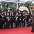 """Jourdan Dunn - Montée des marches du film """"The Little Prince"""" (Le Petit Prince) lors du 68e Festival International du Film de Cannes, le 22 mai 2015."""