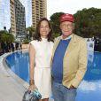 """Niki Lauda et sa femme Birgit - """"Amber Lounge Fashion and Auction Party"""" à l'hôtel Méridien à Monaco, le 22 mai 2015. Dans le cadre du Grand Prix de Formule 1 de Monaco, des pilotes automobiles et leurs femmes ont défilé pour la bonne cause. 22/05/2015 - Monaco"""