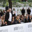 """Miriam Aldainy, Eddie Irvine, Liam Cunningham - """"Amber Lounge Fashion and Auction Party"""" à l'hôtel Méridien à Monaco, le 22 mai 2015. Dans le cadre du Grand Prix de Formule 1 de Monaco, des pilotes automobiles et leurs femmes ont défilé pour la bonne cause. 22/05/2015 - Monaco"""