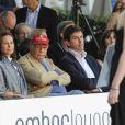 """Niki Lauda et sa femme Birgit, Toto Wolff - """"Amber Lounge Fashion and Auction Party"""" à l'hôtel Méridien à Monaco, le 22 mai 2015. Dans le cadre du Grand Prix de Formule 1 de Monaco, des pilotes automobiles et leurs femmes ont défilé pour la bonne cause. 22/05/2015 - Monaco"""