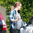 Exclusif - Leighton Meester, enceinte à Los Angeles, le 16 mai 2015.