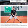 Capture d'écran de l'article publié par le site de Roland-Garros sur Stan Wawrinka ayant provoqué sa colère - mai 2015.