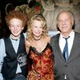 James, Kim et Art Garfunkel à New York le 17 janvier 2005.
