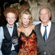 James, Kim et Art Garfunkel à New York le 17 janvier 2005.