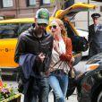 Kate Bosworth et son mari Michael Polish arrivent à leur hotel à New York Le 02 mai 2014