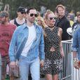 Kate Bosworth et son mari Michael Polish - People lors 2ème jour du festival de Coachella, le 12 avril 2014.