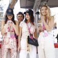 Hailey Baldwin, Kendall Jenner, Bella Hadid, Gigi Hadid - People au grand Prix de Formule 1 de Monaco le 24 mai 2015 le 24 mai 2015.