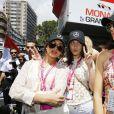 Hailey Baldwin, Bella Hadid et Kendall Jenner - People au grand Prix de Formule 1 de Monaco le 24 mai 2015 le 24 mai 2015.