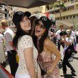 Bella Hadid, Kendall Jenner - People lors du Grand Prix de Formule 1 de Monaco le 24 mai 2015.