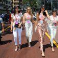 Bella Hadid et sa soeur Gigi, Kendall Jenner et Hayley Baldwin - People au Grand Prix de formule 1 de Monaco le 24 mai 2015