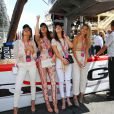 Hayley Baldwin, Kendall Jenner, Bella Hadid et Gigi Hadid - People au Grand Prix de formule 1 de Monaco le 24 mai 2015