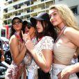 Kendall Jenner, Hayley Baldwin, Bella Hadid et sa soeur Gigi Hadid - People au Grand Prix de formule 1 de Monaco le 24 mai 2015