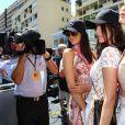 Kendall Jenner, Bella Hadid et sa soeur Gigi Hadid - People au Grand Prix de formule 1 de Monaco le 24 mai 2015