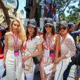 Gigi Hadid, sa soeur Bella Hadid, Kendall Jenner et Hayley Baldwin - People au Grand Prix de formule 1 de Monaco le 24 mai 2015