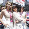 Kendall Jenner, Gigi Hadid, Bella Hadid, Hayley Baldwin - People au Grand Prix de formule 1 de Monaco. le 24 mai 2015.
