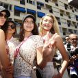 Kendall Jenner, Gigi Hadid et Bella Hadid - People au Grand Prix de formule 1 de Monaco. le 24 mai 2015.