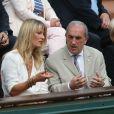 Jean-Claude Camus et Isabelle à Roland-Garros le 26 mai 2015.