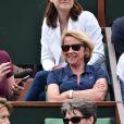 Liane Foly et Arianne Massenet à Roland-Garros le 26 mai 2015.