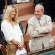 Jean-Claude Camus, sa fille Isabelle et Jean Gachassin à Roland-Garros le 26 mai 2015.