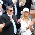Jean-Claude Camus et sa fille Isabelle à Roland-Garros le 26 mai 2015.