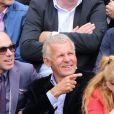 Patrick Poivre-d'Arvor à Roland-Garros le 26 mai 2015.