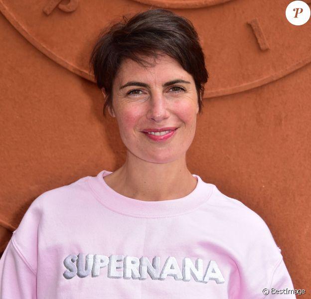 Alessandra Sublet à Roland-Garros le 26 mai 2015.