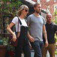 Taylor Swift et son petit ami Calvin Harris sortent d'un restaurant à New York, le 28 mai 2015