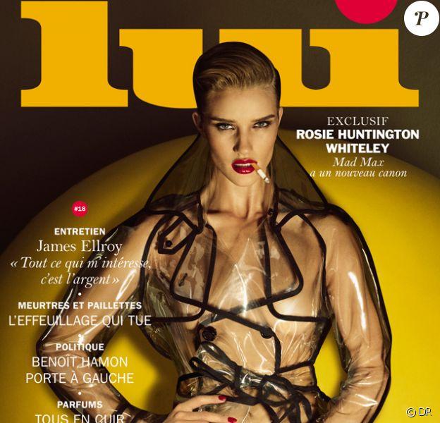 Rosie Huntington-Whiteley en couverture du magazine Lui n°18 sorti le jeudi 28 mai. Photo par Luigi et Iango.