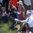 Paris Jackson et Prince Jackson, Blanket Jackson et TJ Jackson - Remise de diplôme de Prince Jackson à  Buckley High School à Sherman Oaks,  le 29 mai 2015