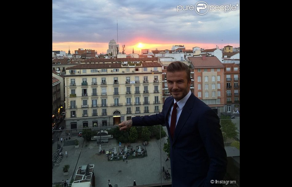 David Beckham à Madrid, le 3 mai 2015.