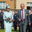 La comtesse Sophie de Wessex participe à une garden party en l'honneur des anciens combattants à Buckingham, à Londres, le 4 juin 2015.