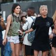 Kendall Jenner, Willow Smith au 1er jour du 2ème week-end du Festival de Musique de Coachella à Indio. Willow arbore une nouvelle coupe de cheveux! le 18 avril 2014