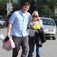 Anna Faris et son mari Chris Pratt à West Hollywood le 8 décembre 2012.