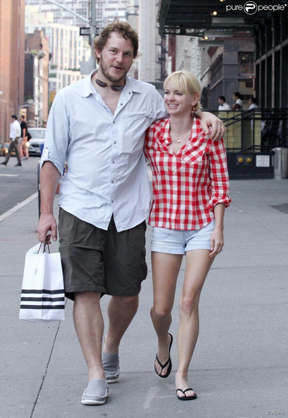 Anna Faris et Chris Pratt à New York le 26 août 2011.