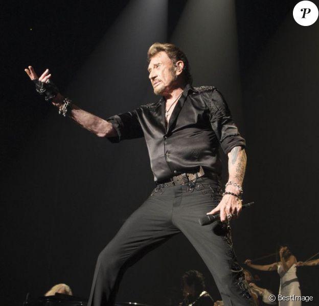 Exclusif - Johnny Hallyday lors de son concert à Bercy célèbrant ses 70 ans, Paris, le 15 juin 2013.