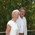 Christine Lagarde et son compagnon Xavier Giocanti - Finale hommes du tournoi de tennis de Roland-Garros à Paris, le 7 juin 2015.