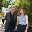 Florence Pernel et son mari Patrick Rotman - Finale hommes du tournoi de tennis de Roland-Garros à Paris, le 7 juin 2015.