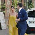 Iker Casillas et sa chérie Sara Carbonero à Tolède, le 6 juin 2015. Le footballeur et la journaliste sportive assistaient au mariage de la cousine de cette dernière.