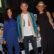 Paul Belmondo et le futur papa Amaury Leveaux sous le charme d'une belle Jaguar
