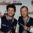 Exclusif - Pierre-François Martin-Laval (PEF) et Kev Adams lors de l'aftershow du film  Les Profs 2  au Comedy Club à Paris, le 9 juin 2015.