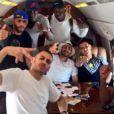 Karim Benzema en route pour Los Angeles - juin 2015