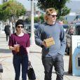 Emma Roberts et Evan Peters sont allés déjeuner à Los Angeles, le 20 mars 2014