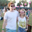 Emma Roberts, Evan Peters - People au 3ème jour du festival de musique Coachella à Indio. Le 13 avril 2014