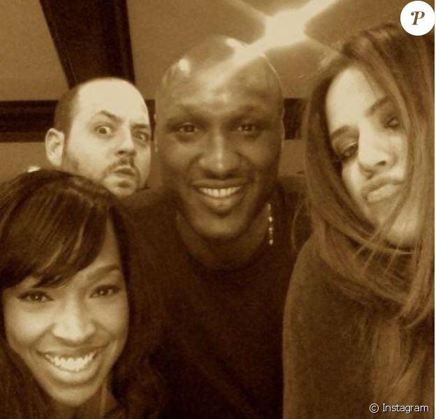Malika Haqq, Khloé Kardashian, Lamar Odom et Jamie Sangouthai, photo postée sur Instagram le 14 juin 2015