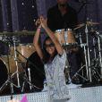 Bobbi Kristina Brown sur scène avec sa mère lors du Good Morning America Summer Concert Series, à New York le 1er septembre 2009