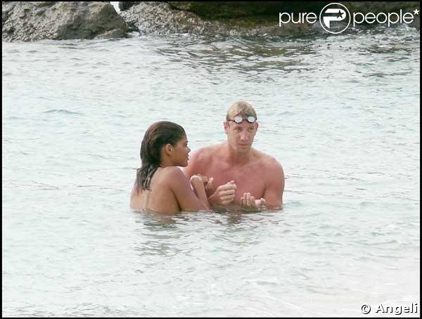 Alain Bernard et sa petite amie Coralie Balmy