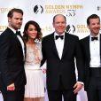 Gethin Anthony, Abigail Spencer, le prince Albert II de Monaco et Grey Damon - Cérémonie des Golden Nymph Awards lors du 55ème Festival de Télévision de Monte Carlo le 18 juin 2015.